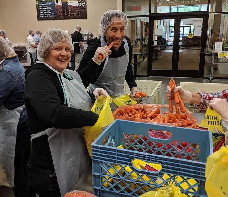 Employee volunteer Oregon Food Bank