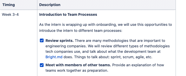 Snapshot of our internship plan (Week #3-4)